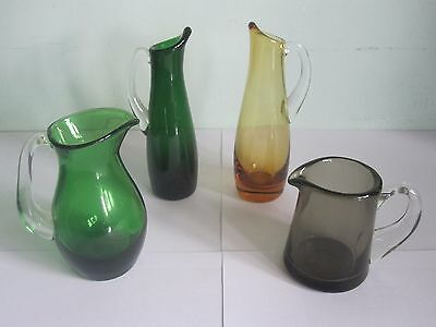 Whitefriars Glass - Collection of Four Small Jugs