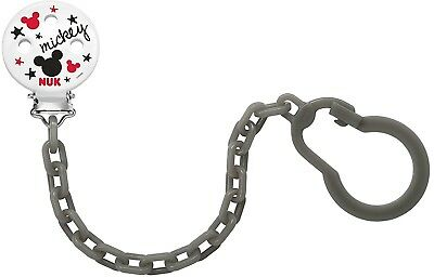 Nuk Disney Mickey Mouse Soother Dummy Clip Holder Chain for Baby New