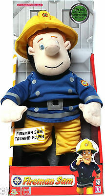 """Fireman Sam Talking Plush 12"""" Toy includes music & phrases. Soft & cuddly. New"""