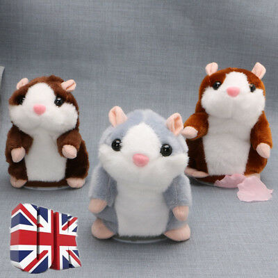 Talking Hamster Mouse Records Speech Nod Mimicry Repeat Plush Toy Kids Best Gift