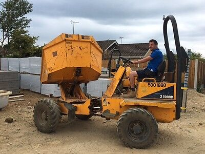 Thwaites 3 Ton Swivel Dumper / Road Legal 2008 low hours just serviced