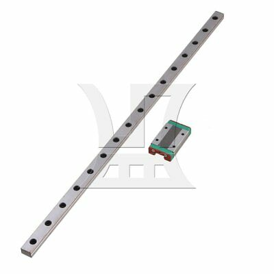 40cm MGN12 Linear Slide Guide Rail & Extension Sliding Block Silver