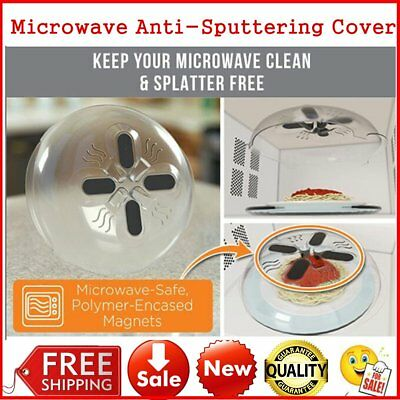 2017 Food Splatter Guard Microwave Hover Anti-Sputtering Cover with Steam Vent W
