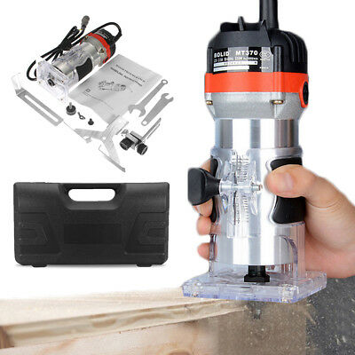 530W 6mm 1/4'' Electric Hand Trimmer Wood Laminator Router Joiners Tool 220V UK