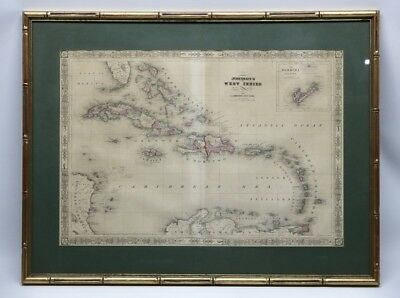 Map of the West Indies and Caribbean by A.J. Johnson 1864