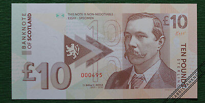 10 pounds Scotland – Sir A. C. Doyle / essay uncirculated banknote design 2017