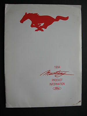 Ford Mustang Product Information 1994