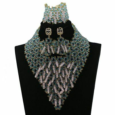 Latest Design African Beads Bridal Wedding Jewelry Party Necklace Set