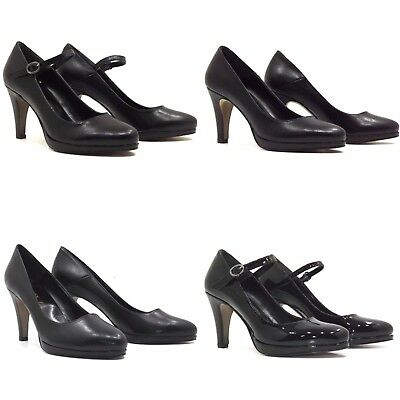 Decolte' Tacchi Donna Tacco 7/8Cm N 41 Kiss Kriss Pelle Nera Made In Italy