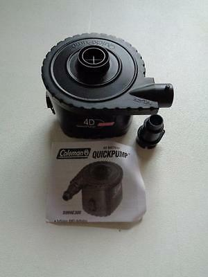 New In Box Coleman Quick Pump 4D Battery Operated Universal With Adapter