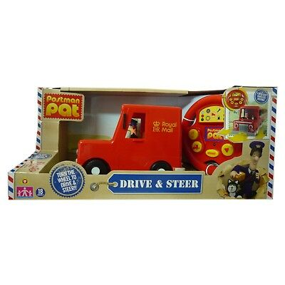 Postman Pat Toy Drive & Steer Van With Figure Jess Cat Sounds & Music NEW