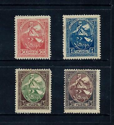 LATVIA _ 1920 'CONSTITUENT ASSEMBLY' SET of 4 _ mh ____(497)