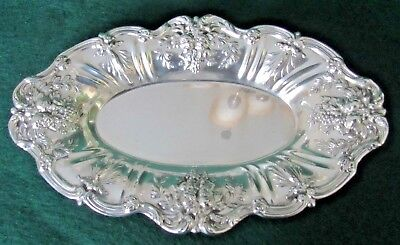 Reed & Barton Francis I Sterling Silver Oval Bread Tray X568, 454 grams