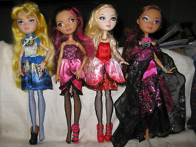4 Pretty Ever After High Dolls