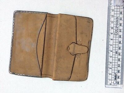 Antique leather and silver card case poss Birmingham circa 1863