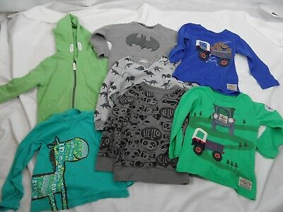 7 Piece Bundle Of Boys Clothes, Tops, Jumpers, Hoodie 1.5-2 Years, Mainly Next