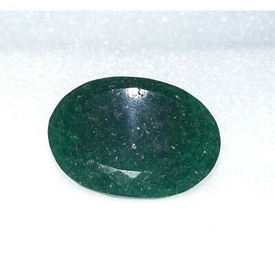 47.8Cts Natural Green Jadeite Jade Faceted Oval Hand Polish Loose Gemstone MG-19