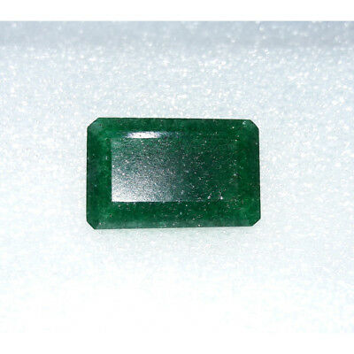 10.4Cts Natural Green Jadeite Jade Faceted Octagon Hand Polish Loose Gemstone MG