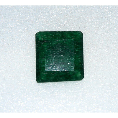 11.1Cts Natural Green Jadeite Jade Faceted Octagon Hand Polish Loose Gemstone MG