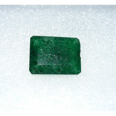 8.8Cts Natural Green Jadeite Jade Faceted Octagon Hand Polish Loose Gemstone MG