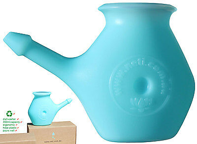 Neti pot, 350g neti salt (no additives) and tongue cleaner combo