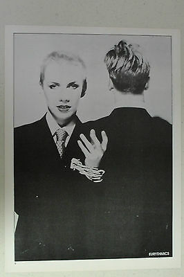 EURYTHMICS Full Page Pinup magazine clipping early shot of ANNIE LENNOX b/w
