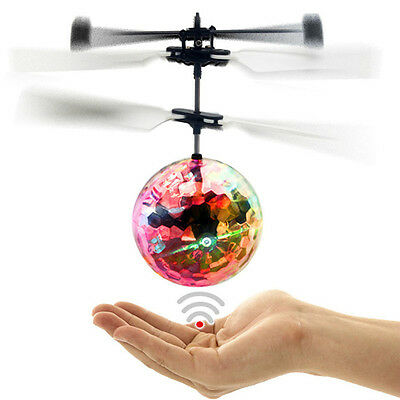 Colorful Ball-shaped LED Induction Aircraft Flying RC Toys Children Toys