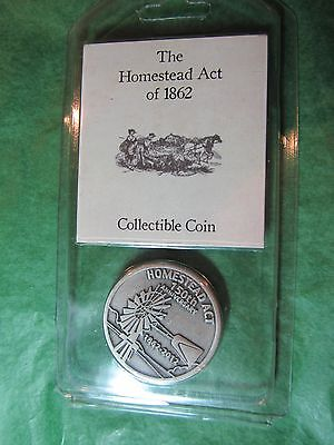 THE HOMESTEAD ACT OF 1862 COLLECTOR COIN NEBRASKA SOUVENIR 150th ANNIV (257)