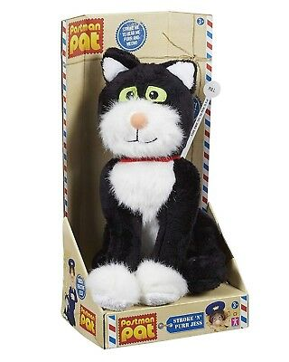 """Postman Pat Toy Stroke n Purr Jess Cat Reacts To Touch 9"""" Soft Plush Toy NEW"""