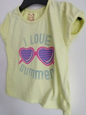 Girls Yellow T Shirt Age 12-24 Month With Sun Glasses