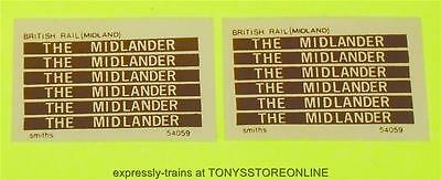 oo new spares 12x smiths adhesive coach labels - the midlander