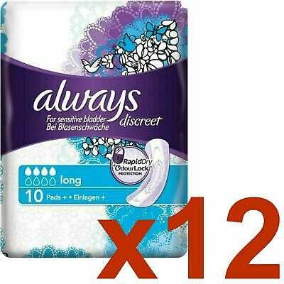 Always Discreet Sensitive Bladder Incontinence Pads Long Odour Lock - 120 Pack