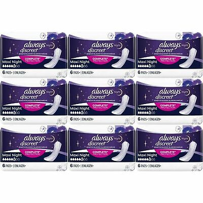 Always Discreet Sensitive Bladder Incontinence Pads Maxi Night Scented - 54 Pack