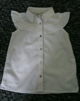 Baby girls River Island white blouse 12-18 months excellent condition.
