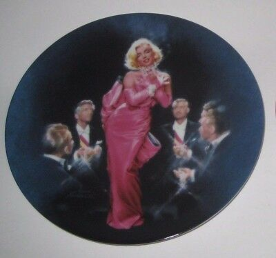 DIAMONDS ARE A GIRL'S BEST FRIEND 1990 MARILYN MONROE Collector PLATE by BRADEX
