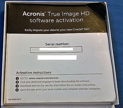 Acronis True Image HD 2015 Backup/Cloning Software Activation License Key  FAST!