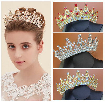 Vintage Wedding Bridal Crystal Rhinestone Queen Crown Headband Tiara Accessories