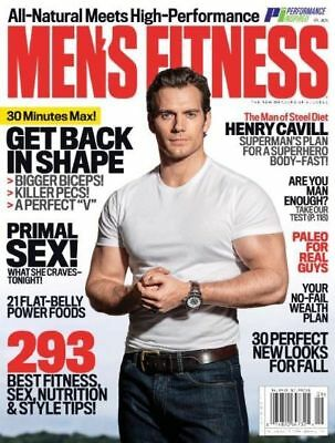 MEN'S FITNESS MAGAZINE GYM, BODYBUILDING, MUSCLE, LOSE FAT FAST - August 2017