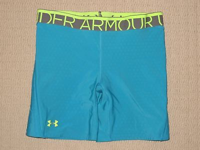 Womens Under Armour Padded Sliding Base Layer Compression Shorts MD Medium Blue