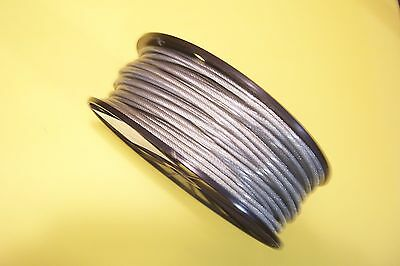"""Clear Vinyl Coated Cable, 1/8"""" - 3/16"""", 7x7, 250 ft reel + 25 Clips 3/16"""""""