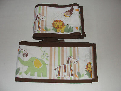 Breathable Baby Mesh Crib Liner Safari Fun Animals