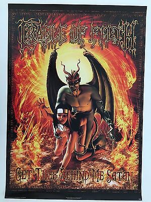 Cradle Of Filth,get Thee Behind Me Satan,rare Authentic Licensed 2002 Poster