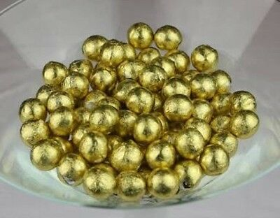 Gold Foiled Gum Balls 1Kg Candy Bar Buffet Wedding, Party Theme Lolly Candy