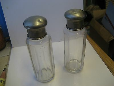 Lot Of 2 Collectible Reproduction Westmoreland Plum Glass Lotion Bottles