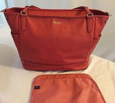 COACH Large Saffino Leather Diaper/Multifunction Tote No. 26353
