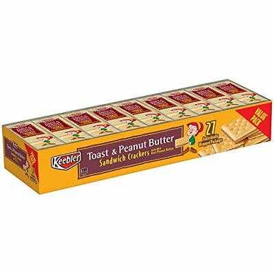 Keebler Peanut Butter Cracker Pack Toasted,27 Count,37.26 Ounce