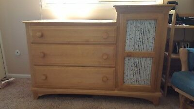 EUC Changing Table Dresser Chest Armoire + Toddler Bed Rail