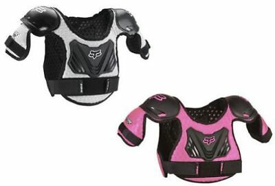 Fox Racing PeeWee Titan Chest Protector Roost Guard Youth Kids Black Pink MX ATV