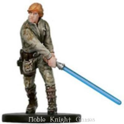 WOTC Star Wars Minis Bounty Hunter Luke Skywalker of Dagobah NM