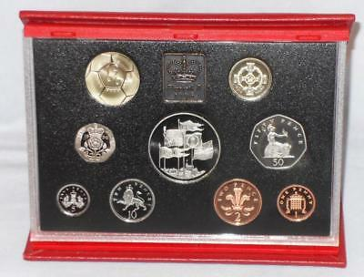 1996 Uk Deluxe Proof Coin Set With Certificate And Booklet